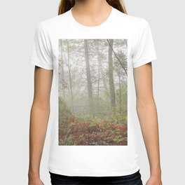 Serenity morning... Into the foggy woods T-shirt