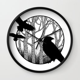 Black Birds II Wall Clock