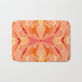 Sunburst Floral Boho Cross Tapestry Print Bath Mat