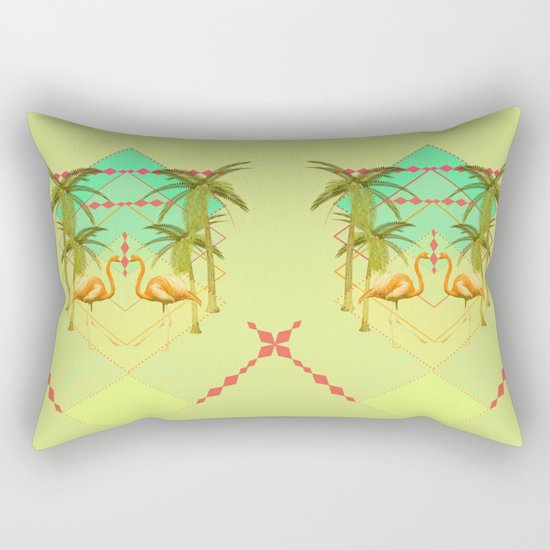 go flamingo, go ! Rectangular Pillow