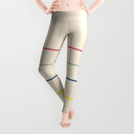 Classic Abstract Minimal Rainbow Retro Summer Style Lines #1 Leggings