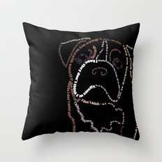 Bulldog Pup Throw Pillow