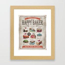 Happy Baker Framed Art Print