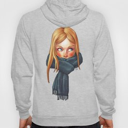 Blonde with Scarf Hoody
