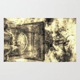 Queen Victoria memorial London Vintage Rug