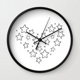 Stars, kids room and nursery deco Wall Clock
