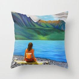 Epuyén Lake  Throw Pillow