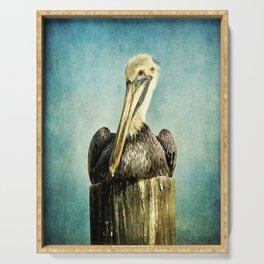 Brown Pelican Art Serving Tray