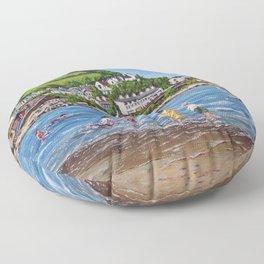 Newquay, Wales Floor Pillow