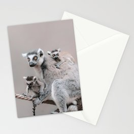 RINGTAILED LEMUR FAMILY by Monika Strigel Stationery Cards
