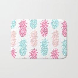Pineapple Summer (pink and blue) Bath Mat