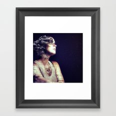 Time waits for no one. Framed Art Print