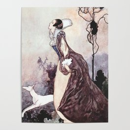 """""""Some Glory In Their Birth"""" Fairy Art by Charles Robinson Poster"""