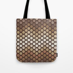 Dot Chevron: Brown Tote Bag