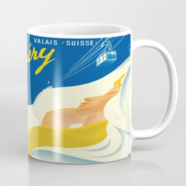 Vintage Champery Switzerland Travel Coffee Mug