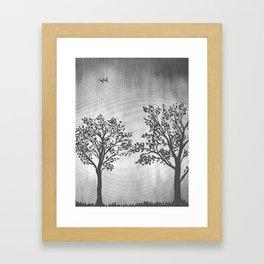 Grey Silhouette Framed Art Print