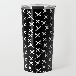 X Pattern - Original White on Black Travel Mug