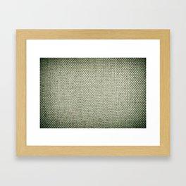 Green flax sheet cloth texture abstract Framed Art Print