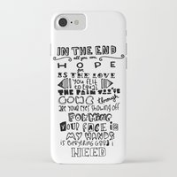 lettering iPhone & iPod Cases featuring Lettering Lyrics by Insait disseny