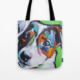 Fun JACK RUSSELL TERRIER Dog bright colorful Pop Art Tote Bag