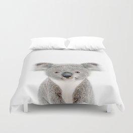 Baby Koala Portrait Duvet Cover