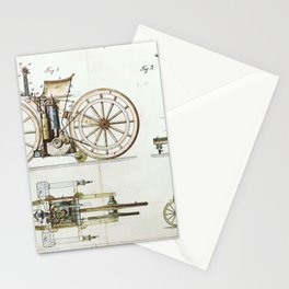 1885 Daimler Reitwagen Motorcycle Prototype Patent Stationery Cards