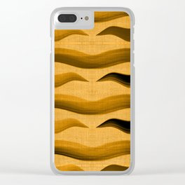 """""""Abstract Oriental Tiger"""" Clear iPhone Case"""