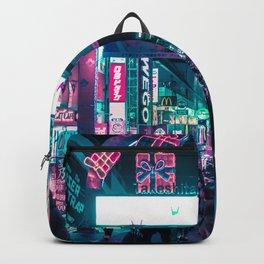 Tokyo's Neon-Lit Takeshita Street Backpack