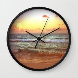 beacH Sunrise Sunset Wall Clock