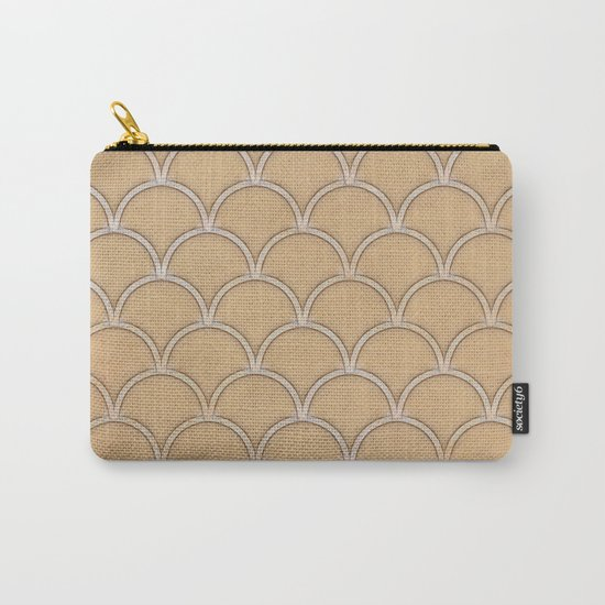 Abstract large scallops in iced coffee with texture Carry-All Pouch