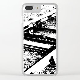 Railway Lines Clear iPhone Case