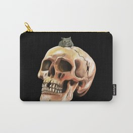 Cracked skull with mouse Carry-All Pouch