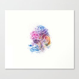 OM Symbol Watercolor Art Canvas Print