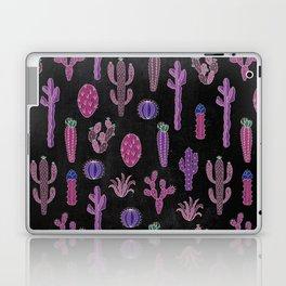 Cactus Pattern On Chalkboard Laptop & iPad Skin