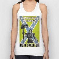 skeletor Tank Tops featuring Vote Skeletor by Itomi Bhaa
