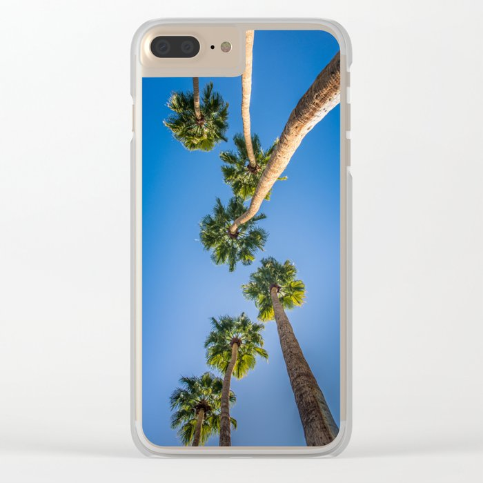 Upside Down LA Palms Clear iPhone Case