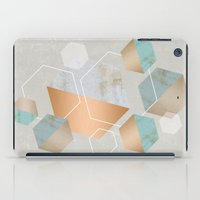 concrete iPad Cases featuring Honeycomb Concrete by cafelab