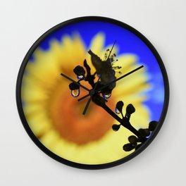 water drop flower Wall Clock
