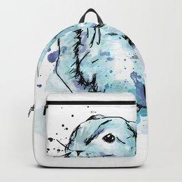 Blue rabbit Backpack