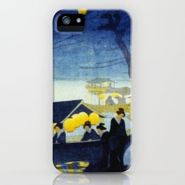 Wasen at Night - Vintage Japanese Art iPhone Case