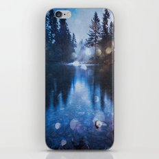 Forest Reflection Nature Lake - Magical Blue Forest Water Reflection iPhone & iPod Skin