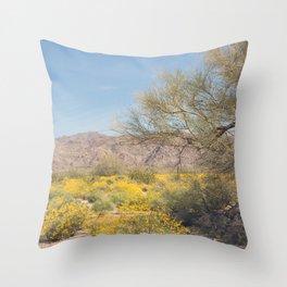 Joshua Tree Wildflowers Throw Pillow