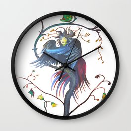 Gamaun Halloween Prophetic Raven Vector Wall Clock