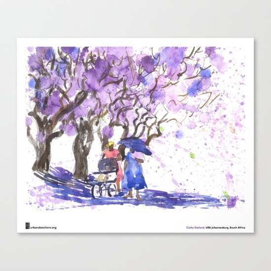"Cathy Gatland, ""Jacaranda Shower"" Canvas Print"