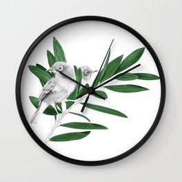 Oriental white eye, Mejiro Wall Clock