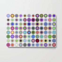 Pop art flowers Metal Print