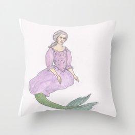Sjöjungfrun Throw Pillow