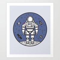Cosmonaut Dance Art Print