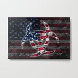 Biohazard United States, Biohazard from United States, United States Quarantine Metal Print