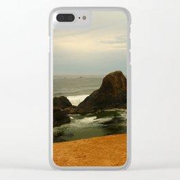 Otter Rock Beach Clear iPhone Case
